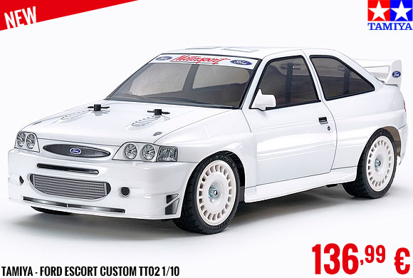 New - Tamiya - Ford Escort Custom TT02 1/10