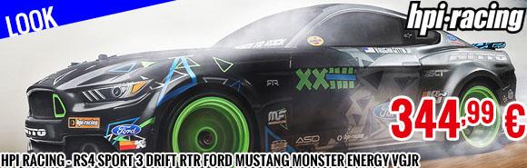 Look - HPI Racing - RS4 Sport 3 Drift RTR Ford Mustang Monster Energy VGJR