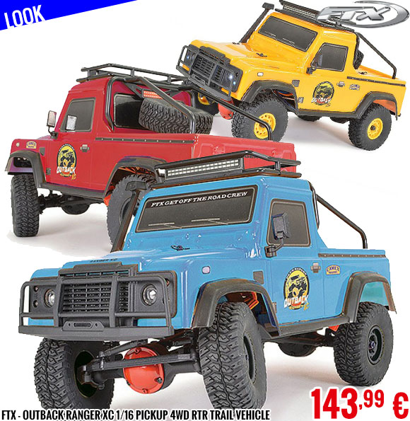 Look - FTX - Outback Ranger XC 1/16 Pickup 4wd RTR Trail Vehicle