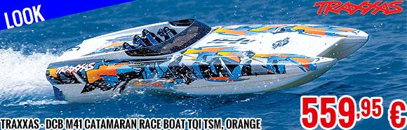 Look - Traxxas - DCB M41 Catamaran Race Boat TQi TSM, Orange