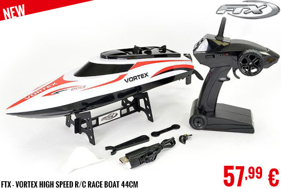 New - FTX - Vortex High Speed R/C Race Boat 44cm