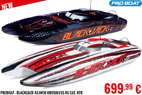 New - ProBoat - Blackjack 42-inch Brushless 8s Cat, RTR