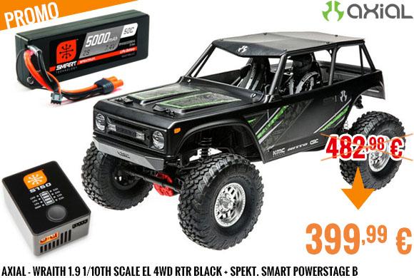 Promo - Axial - Wraith 1.9 1/10th Scale El 4wd RTR Black + Spekt. Smart PowerStage B