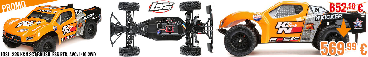 Promo - Losi - 22S K&N SCT Brushless RTR, AVC: 1/10 2WD