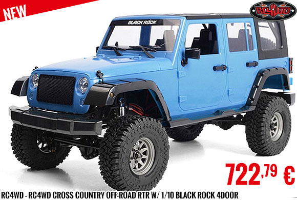 New - RC4WD - RC4WD Cross Country Off-Road RTR W/ 1/10 Black Rock 4Door