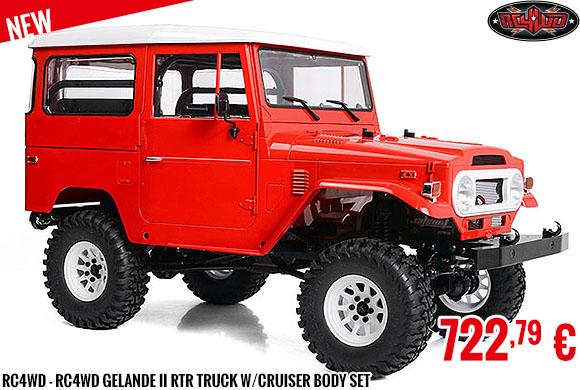 New - RC4WD - RC4WD Gelande II RTR Truck w/Cruiser Body Set
