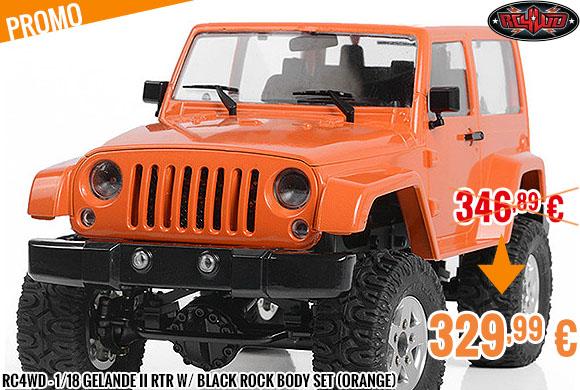 Promo - RC4WD - 1/18 Gelande II RTR w/ Black Rock Body Set (Orange)
