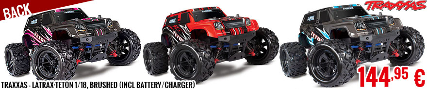 Back - Traxxas - LaTrax Teton 1/18, Brushed (incl battery/charger)