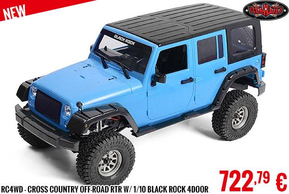 New - RC4WD - Cross Country Off-Road RTR W/ 1/10 Black Rock 4Door