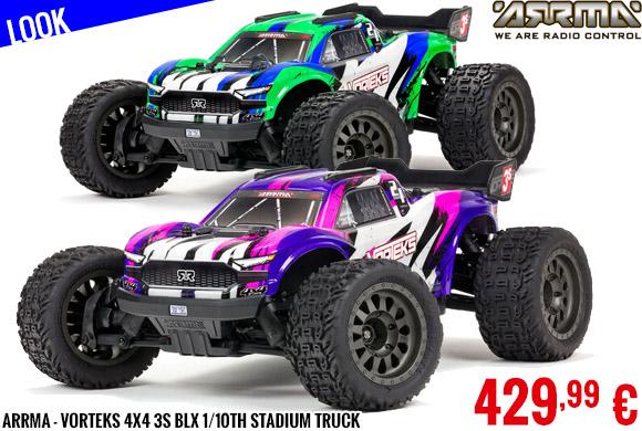 Look - Arrma - Vorteks 4X4 3S BLX 1/10th Stadium Truck