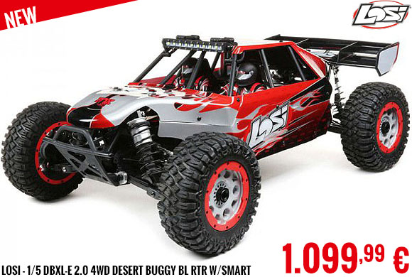 New - Losi - 1/5 DBXL-E 2.0 4WD Desert Buggy Brushless RTR with Smart