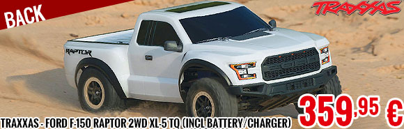 Back - Traxxas - Ford F-150 Raptor 2WD XL-5 TQ (incl battery/charger), Fox