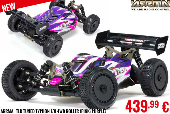 New - Arrma - TLR Tuned Typhon 1/8 4WD Roller (Pink/Purple)