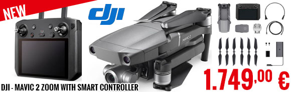 New - DJI - Mavic 2 Zoom with Smart Controller