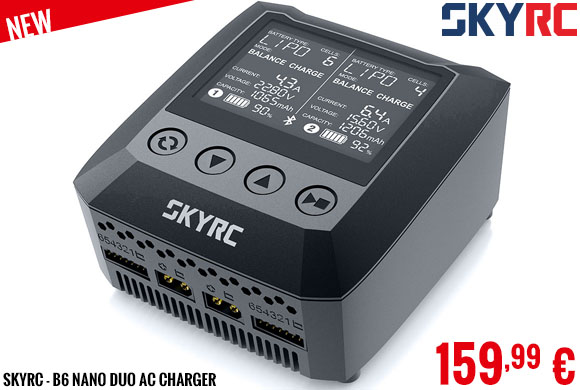 New - SkyRC - B6 Nano Duo AC charger
