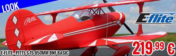 Look - E-Flite - Pitts S-1S 850mm BNF Basic