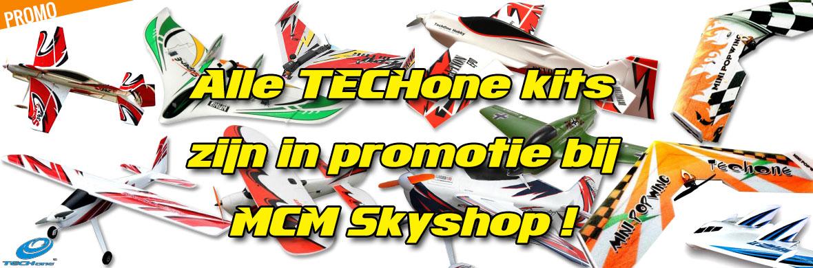 Promo - Alle TECHone kits zijn in promotie bij MCM Skyshop !