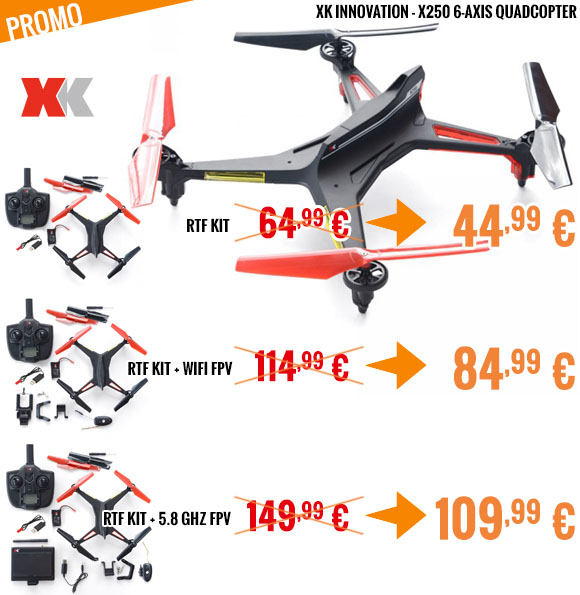 Promo - XK Innovation - X250 6-axis quadcopter