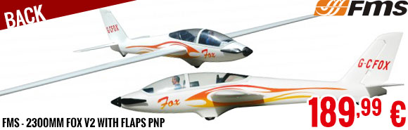 Back - FMS - 2300mm Fox V2 with flaps PNP