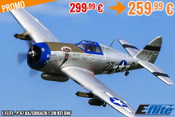Promo - E-Flite - P-47 Razorback 1.2m kit BNF