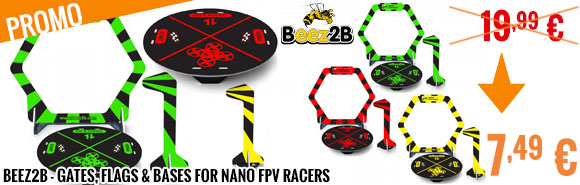 Promo - Beez2B - Gates, flags & Bases for nano FPV Racers