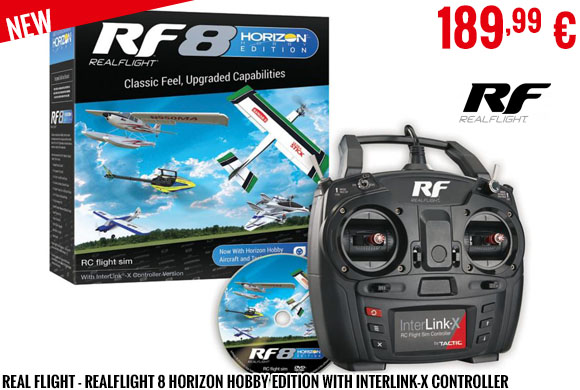 New - Real Flight - RealFlight 8 Horizon Hobby Edition