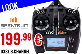 Look - Spektrum - DX8e 8-Channel Transmitter Only EU