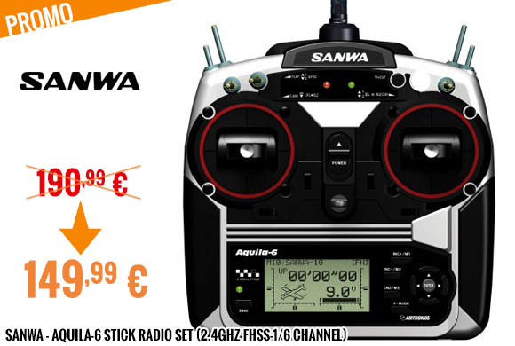 Promo - Sanwa - Aquila-6 Stick Radio Set (2.4GHz FHSS-1/6 channel)