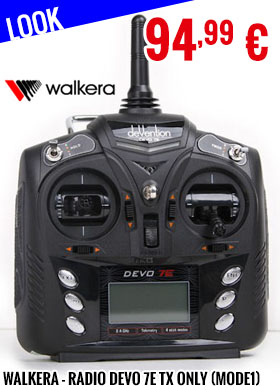 Look - Walkera - Radio DEVO 7E TX only (Mode1)