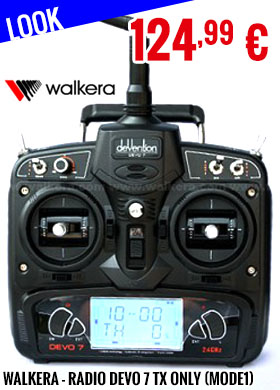 Look - Walkera - Radio DEVO 7 TX only (Mode1)