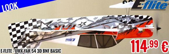Look - E-Flite - UMX Yak 54 3D BNF Basic