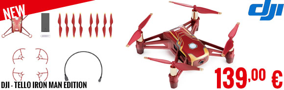 New - DJI - Tello Iron Man Edition