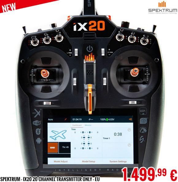 New - Spektrum - iX20 20 Channel Transmitter Only - EU