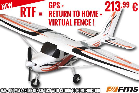 New : FMS - 850mm Ranger RTF kit (M2) with return to home function