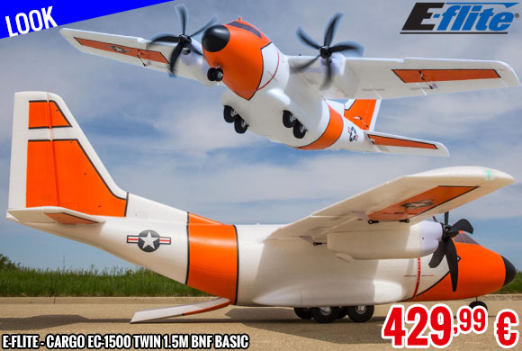 Look - E-Flite - CArgo EC-1500 Twin 1.5m BNF Basic with AS3X and SAFE Select