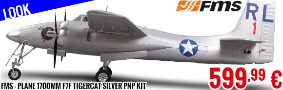 Look - FMS - Plane 1700mm F7F Tigercat Silver PNP kit