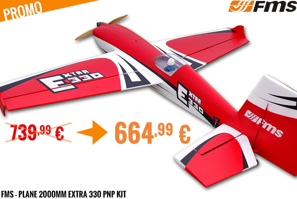 Promo - FMS - Plane 2000mm Extra 330 PNP kit