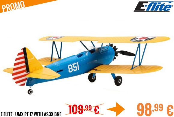 Promo - E-Flite - UMX PT-17 with AS3X BNF