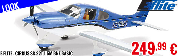 Look - E-Flite - Cirrus SR-22T 1.5M BNF Basic