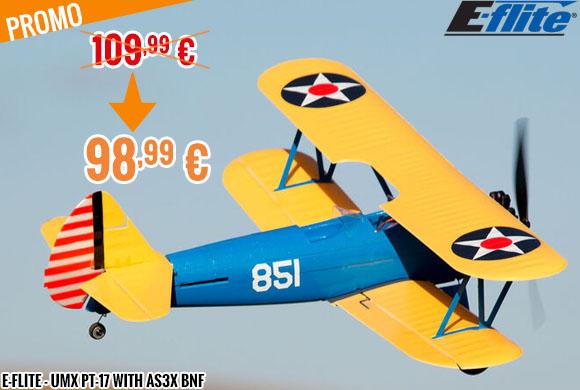 Promo - E-Flite - UMX PT-17 with AS3X BNF