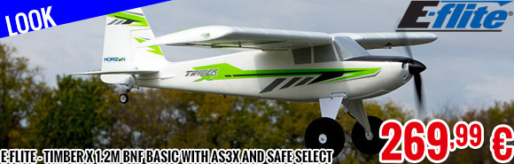 Look - E-Flite - Timber X 1.2m BNF Basic with AS3X and SAFE Select