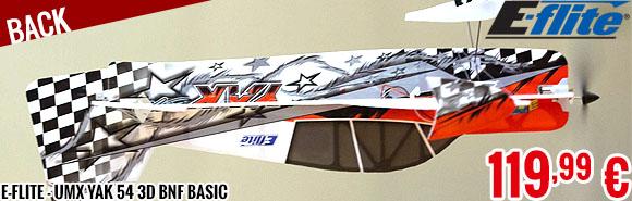 Back - E-Flite - UMX Yak 54 3D BNF Basic