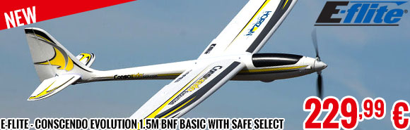 New - E-Flite - Conscendo Evolution 1.5m BNF Basic with SAFE Select