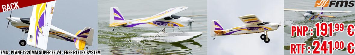 Back - FMS - Plane 1220mm Super EZ V4 - free Reflex system