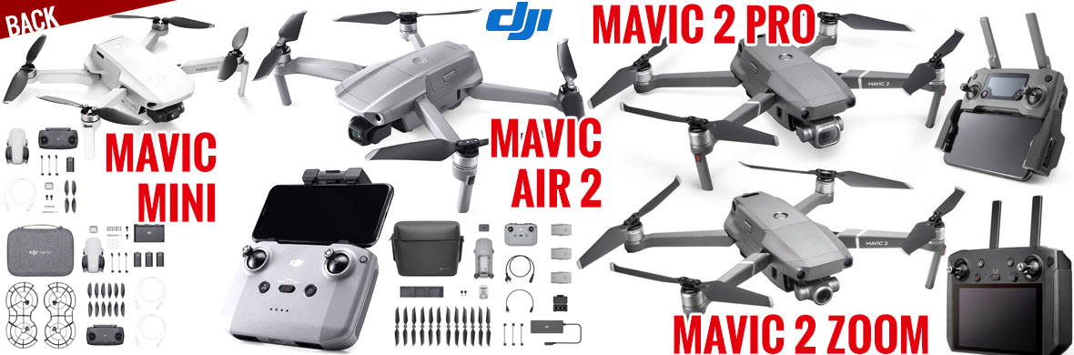 Back - DJI Mavic Mini, Mavir Air 2, Mavic 2 Pro, Mavic 2 Zoom