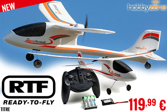 New - HobbyZone - Mini AeroScout RTF