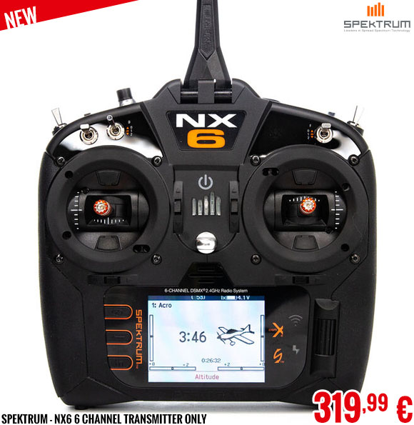 New - Spektrum - NX6 6 Channel Transmitter Only