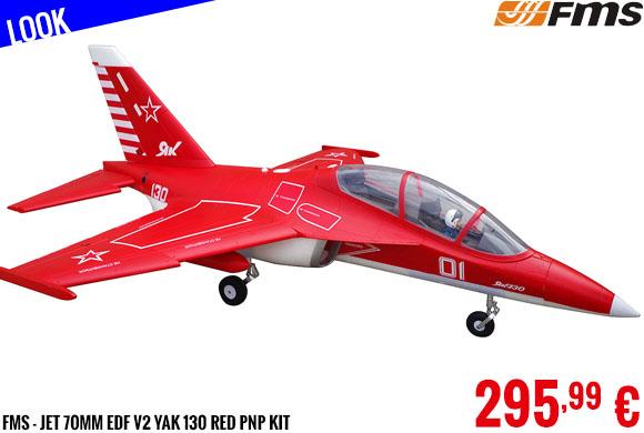 Look - FMS - Jet 70mm EDF V2 Yak 130 Red PNP kit