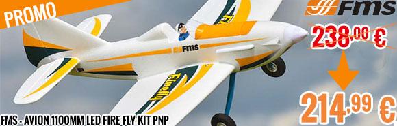 Promo - FMS - Avion 1100MM LED Fire Fly kit PNP