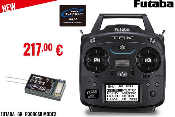 New - Futaba - 6K - R3006SB Mode2